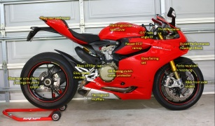Track/Race Ducati 1199S Panigale modifications – Right