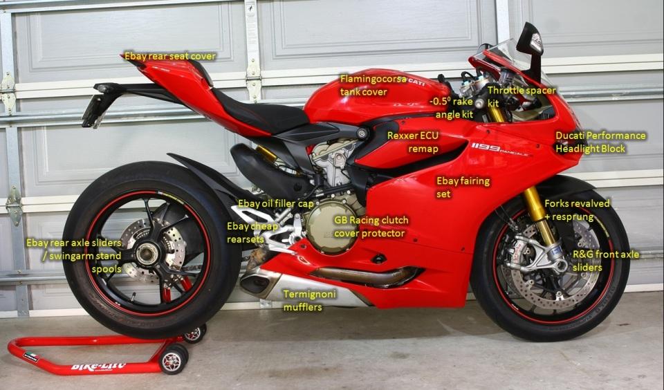 Track/Race Ducati 1199S Panigale modifications – Right